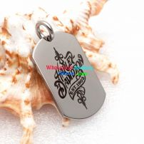 Men's wholesale dog tag modern design combines the elegant feelings with the modern fashion element