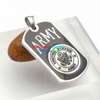 """English Letters with Pattern of """"ARMY"""" Black & Silver Design of Stainless Steel Men Pendant dog tag"""