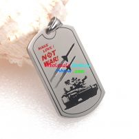 A Double-edged Sword Style of Stainless Steel Pendant for The True Love man's dog tag