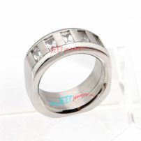The heavy and thick stainless steel ring