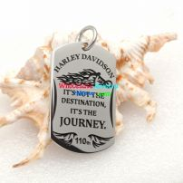 "A Fashion Stainless Steel Pendant Reads ""It Is Not The Destination but The Journey"