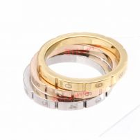personalized three tiers different colors 316L stainless steel password ring