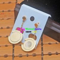 The Golden-Color Circle stainless steel drop Earrings for Elegant and Charming You