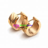 A Distinctive Earring at The Style of Screw Nut Made of the Material of Stainless Steel