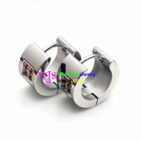 stainless steel earrings with some plum blossoms shape inlay