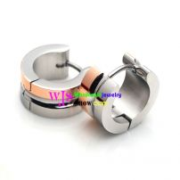 high polish luxurious stainless steel earrings with several layers in it