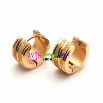 stainless steel dull polish gold plated earrings