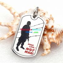 More Love,No War, a Pendant Made of Stainless Steel Which is suitable for All