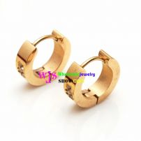 A Distinctive Earring at The Style of Real-ring Made of the Material of Stainless Steel