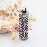 Stainless metal lovely families tattoo flowers pillow shape Chinese classic pendant