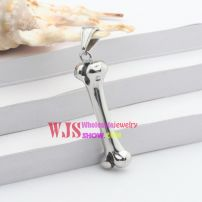 The stainless steel ball chains of the shape of little bone for men