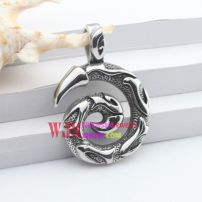 The excellent and fashionable design of black stainless steel necklace pendant