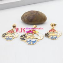 The colorful elephant design of fashionable and pretty jewelry set