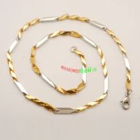 Men\'s Gold Plated stainless steel Link Chain Necklace