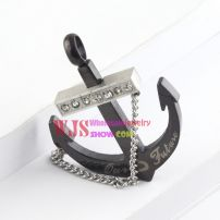 2014 Anchors gem link chain pendant fashion style discount jewelry stainless steel pendant