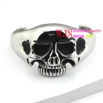 2014 free shipping all skull head shape bracelet cool punk fashion style anti-rust bracelet stainless steel 316L bracelet