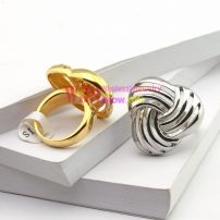 gold silver color triangle pattern casting ring stainless steel ring anti-corrosion anti-rust ring 316L【Silver】