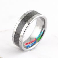tungsten rings lattice appearance plating white color diamond interface 3mm width 8mm