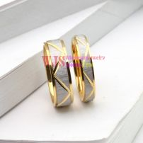 white gold pattern couple ring stainless steel 316L cool fashion anti-corrosion ring【Man】