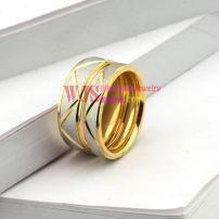 white gold pattern couple ring stainless steel 316L cool fashion anti-corrosion ring【Women】