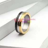 2014 three color stripe ring stainless steel 316L ring cool fashion anti-corrosion ring