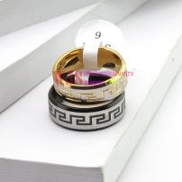 2014 new style China pattern classic gold black color ring stainless steel ring couple anti-corrosion fashion ring[Black]