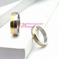 2014 high quality gold silver color artificial gem stone ring stainless steel 316L ring anti-corrosion fashion ring[Man]