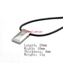 square tungsten steel pendant