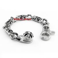Traditional men's fashion 316L stainless steel bracelet 23 cm long casting
