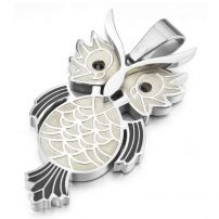 Fashionable stainless steel owl pendant steel accessories