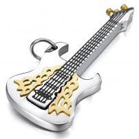 Men's Guitar Stainless Steel Pendant