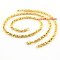 3MM gold-plated stainless steel Bracelet Men unisex fashion jewelry necklace