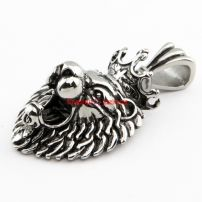 Male's Special Gift Newest Jewelry Stainless Steel Lion Head Shape Fashionable Necklace Pendant Length:4.7 cm