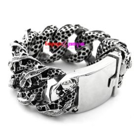 Men's fashion Stainless steel bracelet hip hop style bracelet Exquisite never go out of date trendy bracelet