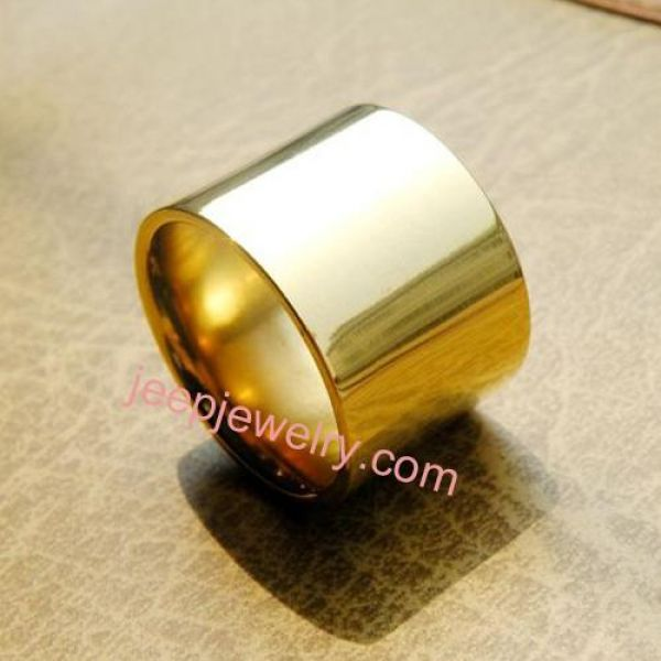 Pure titanium rings male ultra wide BanZhi thumb ring ring of 18 k