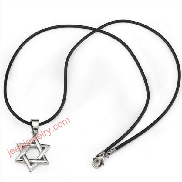 Mens stainless steel star of david necklace pendant magen for Star of david jewelry wholesale