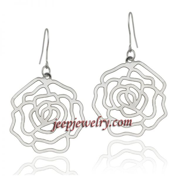 Stainless Steel Flower Earrings