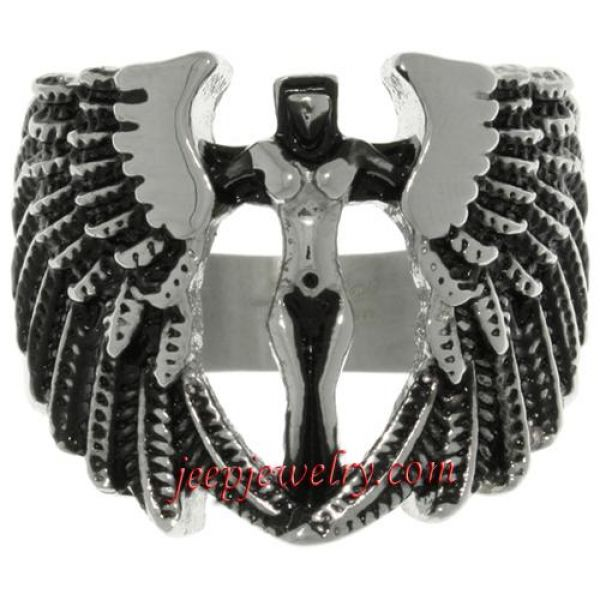 Stainless Steel Archangel Ring