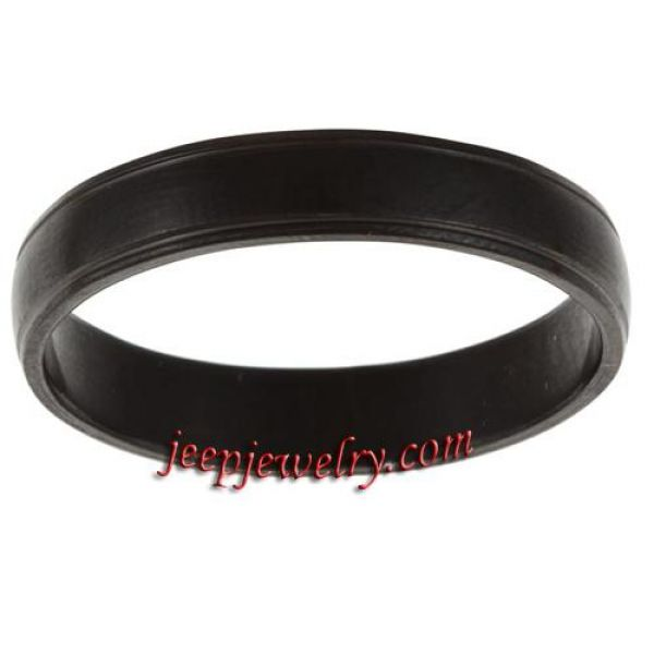 Stainless Steel Lined Edge Black Band