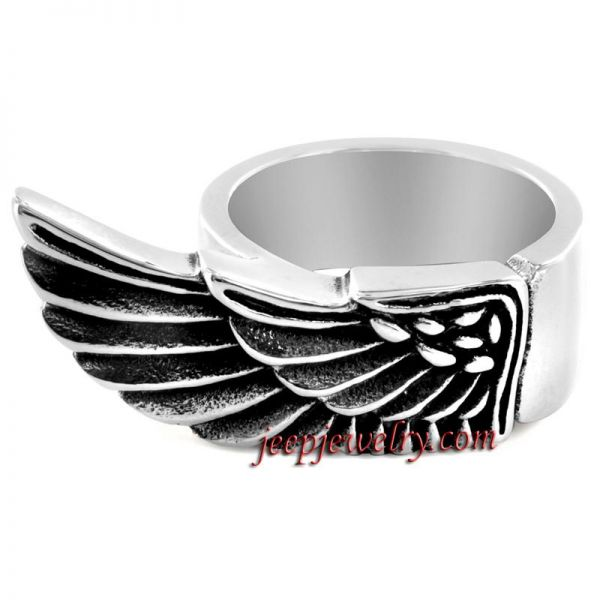 Stainless Steel Egyptian Wing Ring