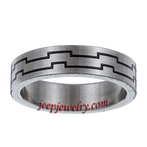 Wholesale Great wall Men's Stainless Steel Band Ring