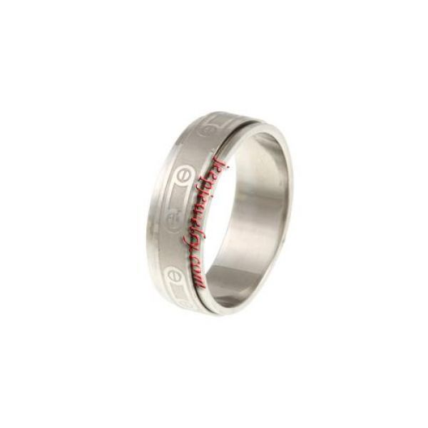 Stainless Steel Safety Pin Spinner Ring