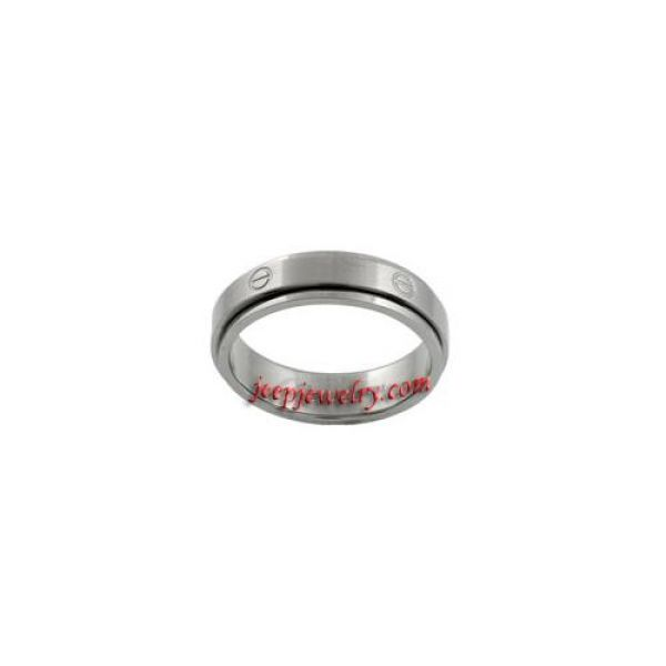 Stainless Steel Spinner Ring with Circle Designs
