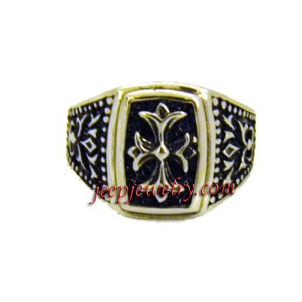 Stainless Steel Gothic Cross Ring