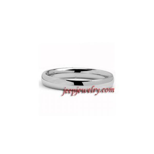 Stainless Steel Classic Dome Wedding Band Ring (3 mm)