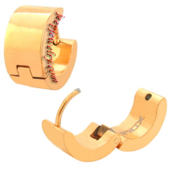 Jewelry Gold PVD 316L Stainless Steel Huggy Earrings