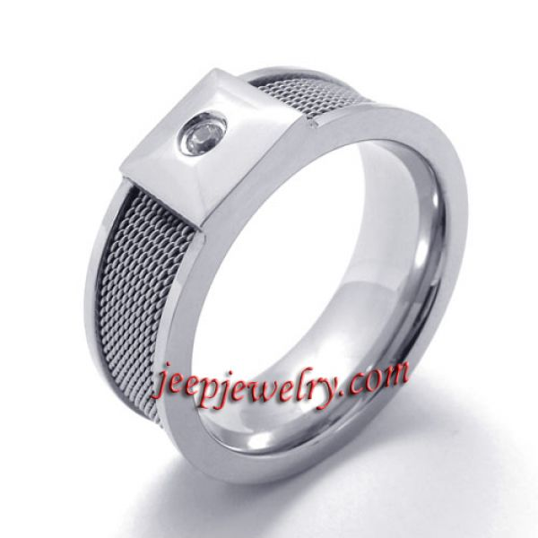 Dark grey fashionable stainless steel ring