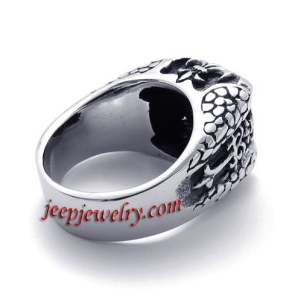 Stainless steel African Mosaic ring