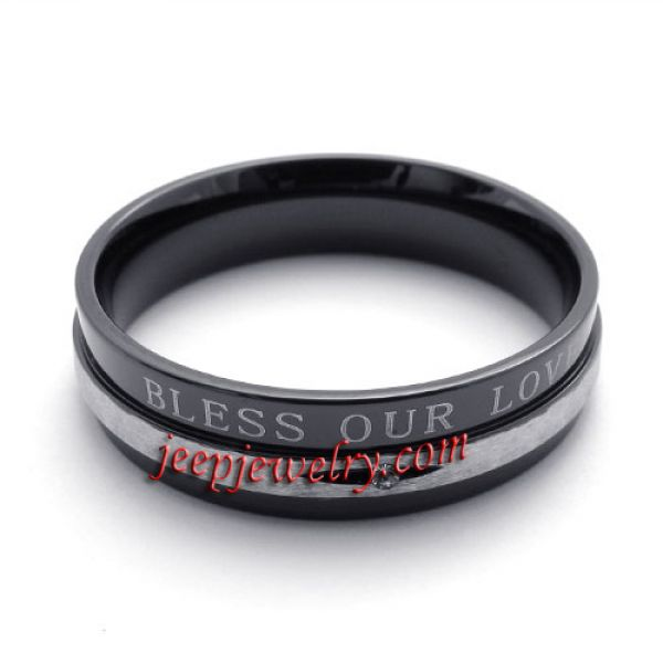Stainless steel jewelry ring masculine fashion