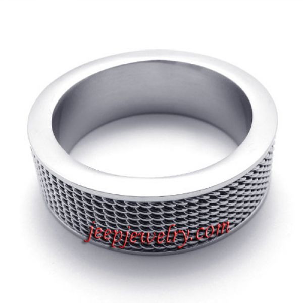 Simple fine stainless steel ring
